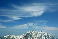 長野県 爺ケ岳中峰から鹿島槍ケ岳と雲