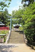 静岡県 久能山東照宮 鳥居と唐門と国宝の拝殿