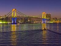 東京都 レインボーブリッジの夕景