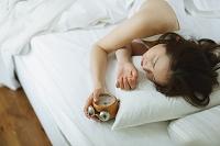 起床時間に起きない日本人女性