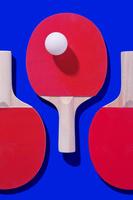 卓球のボールとラケット
