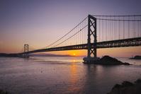 徳島県 大鳴門橋と鳴門海峡の日の出
