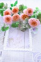 バラの花飾り