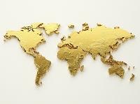金色の世界地図