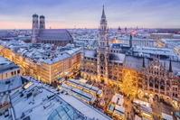 ドイツ バイエルン州 ミュンヘン マリエン広場 クリスマスマ...