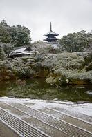 雪の仁和寺 北庭