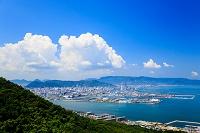 香川県 屋島から瀬戸内海と高松市街