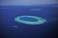 モルディブ 北マーレ環礁 環状サンゴ礁