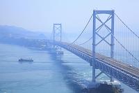 徳島県 360度パノラマ展望台から見る大鳴門橋と鳴門海峡