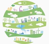 イラスト 再生可能エネルギーイメージ
