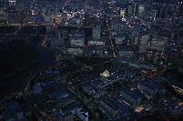 東京都 夜の国会議事堂より霞ヶ関,日比谷