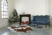 クリスマスツリーのあるリビング