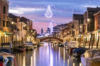 イタリア ムラーノ島のクリスマスデコレーション