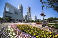 神奈川県 桜木町駅前の花園