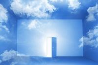 青空の壁とドア CG