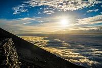 静岡県 富士山 富士宮ルート 石垣 日の出