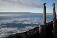 静岡県 富士山 富士宮ルート 万年雪山荘 朝景
