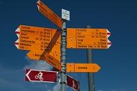 スイス ツェルマット シュヴァルツゼー 道案内板