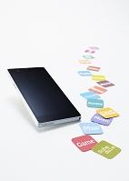スマホとアプリアイコンのカード
