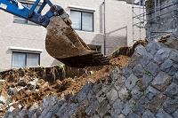 ひな壇造成地の解体