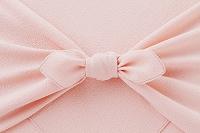 ピンクの風呂敷と蝶結び