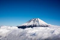 雲海と富士山(大沢崩れ付近)