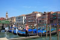 イタリア ヴェネチア ゴンドラと大運河