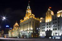 中国 上海 夜の街並み