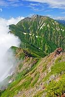 長野県 唐松岳から夏の五竜岳