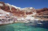 ギリシャ サントリーニ島 イアの町 クルーズ船からの眺め