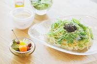 水菜のパスタのランチセット