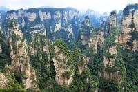 中国 武陵源の迷魂台の奇岩