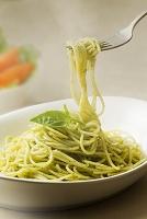 スパゲティー バジルソース