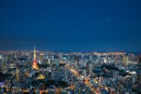 東京都 六本木ヒルズより東京タワー方面