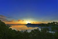 北海道 摩周湖 日の出 朝景 第一展望台から撮影