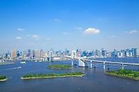 東京都 お台場から見たレインボーブリッジ