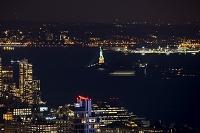 アメリカ リバティー島自由の女神像 夜景