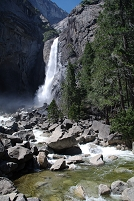 アメリカ ヨセミテ公園 ブライダルベール滝