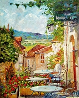 デイヴィッド・ロイド・グローバー 「Provence Cafe Morning」
