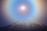 静岡県 月と富士山