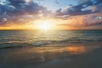 ジャマイカ 海に沈む夕日