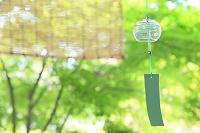 風鈴とすだれと新緑