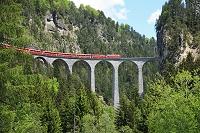 スイス グラウビュンデン州 レーティッシュ鉄道アルブラ線