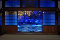 福岡県 福岡市博多区承天寺のライトアップ