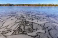 フランス 氷が張るベルフォンテーヌ湖