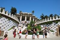 スペイン グエル公園 入り口の外観