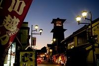埼玉県 川越市 川越の町 時の鐘暮景