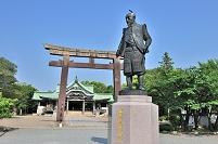 大阪府 大阪市 豊国神社 豊臣秀吉公の像