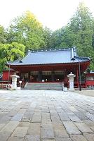 栃木県 日光二荒山神社拝殿と参道