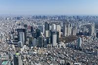 東京都 西新宿五丁目再開発より新宿ビル群・都心・スカイツリー...